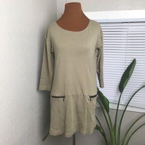 Soft Surroundings khaki colored tunic